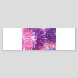Tie Dye Fire Eagle Bumper Sticker