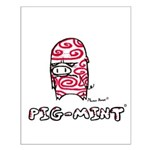 Coveman Pig-mint Small Poster
