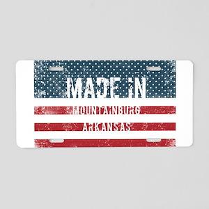 Made in Mountainburg, Arkan Aluminum License Plate