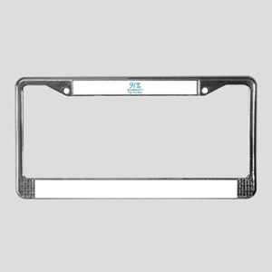 Income Tax Rate in blue letter License Plate Frame