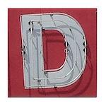 Found Letter D Tile Coaster