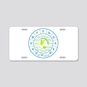 circle of 5th earth Aluminum License Plate