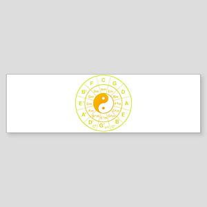 yin yang circle of 5th Bumper Sticker