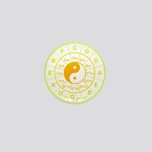 yin yang circle of 5th Mini Button