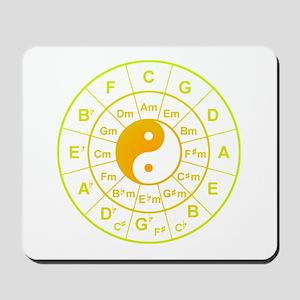 yin yang circle of 5th Mousepad