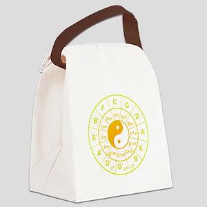 yin yang circle of 5th Canvas Lunch Bag