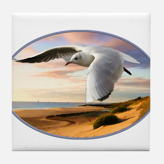 Funny Gull Tile Coaster