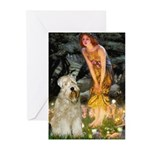 Fairies & Wheaten Terrier Greeting Cards (Pk of 10
