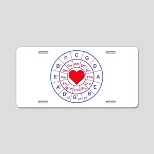 Circle of 5th love Aluminum License Plate