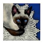 SIAMESE CAT CROCHET Tile Coaster