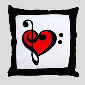 love my clef Throw Pillow