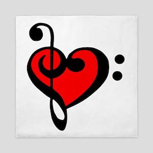 love my clef Queen Duvet