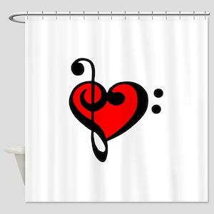 love my clef Shower Curtain