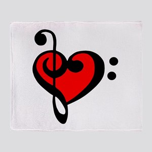 love my clef Throw Blanket