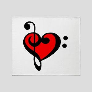 love my clef Throw Blanket