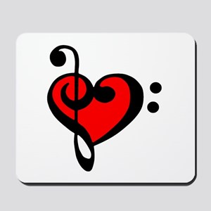 love my clef Mousepad