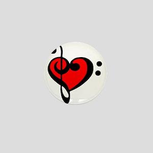 love my clef Mini Button