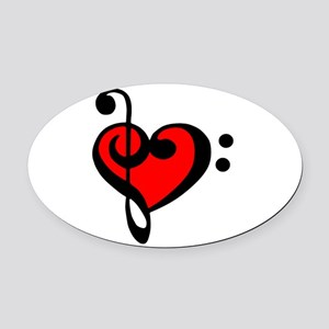 love my clef Oval Car Magnet