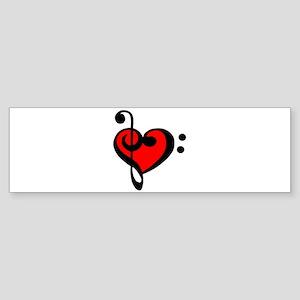 love my clef Bumper Sticker