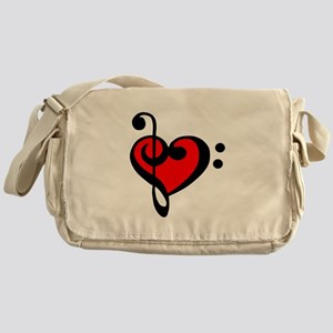 love my clef Messenger Bag
