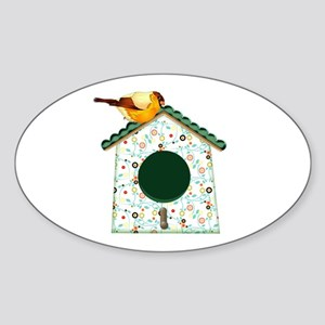 Goldfinch on Calico Sticker