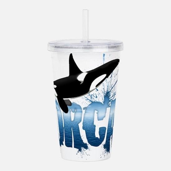 orca.png Acrylic Double-wall Tumbler