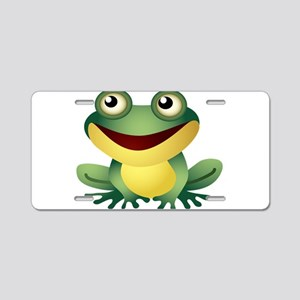 Green Cartoon Frog-4 Aluminum License Plate