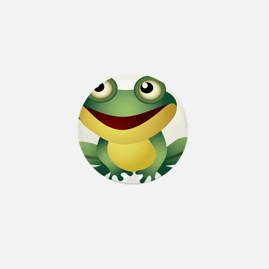 Green Cartoon Frog-4 Mini Button