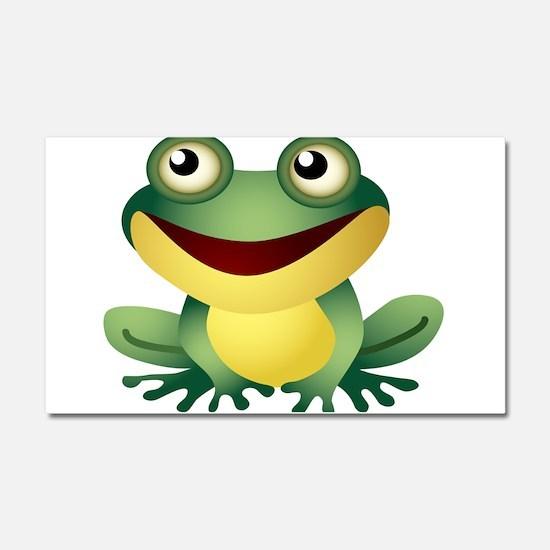 Green Cartoon Frog-4 Car Magnet 20 x 12