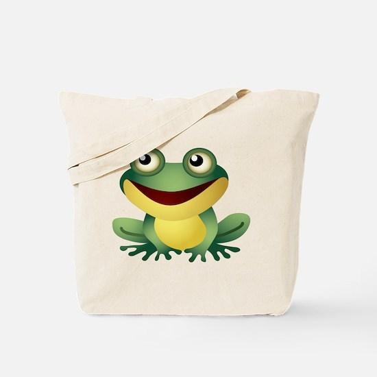 Green Cartoon Frog-4 Tote Bag