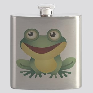 Green Cartoon Frog-4 Flask