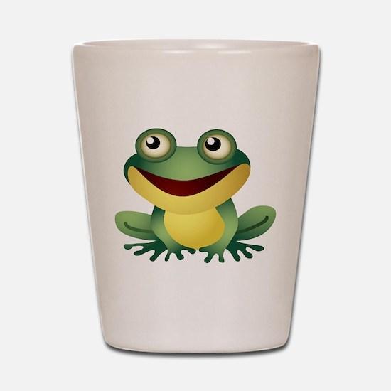 Green Cartoon Frog-4 Shot Glass