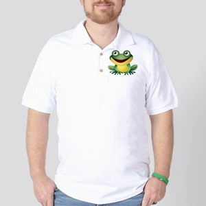 Green Cartoon Frog-4 Golf Shirt
