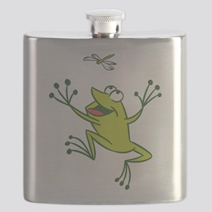 Frog with Dragonfly Flask