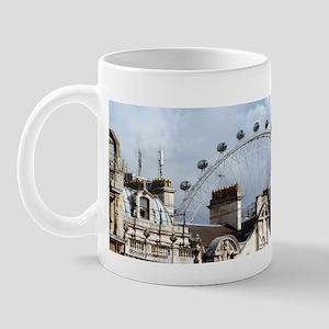 """The London Eye"" over rooftop Mug"