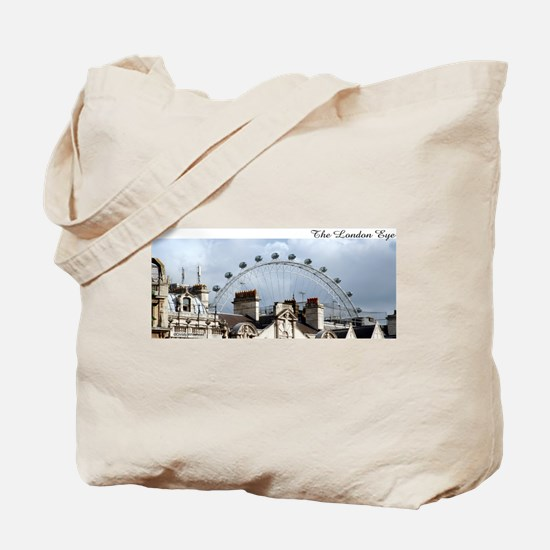 """""""The London Eye"""" over rooftop Tote Bag"""