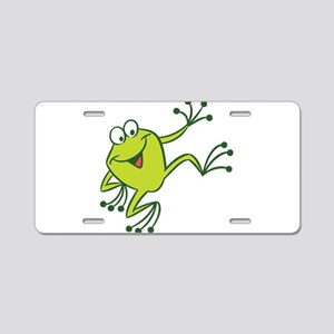 Dancing Frog Aluminum License Plate