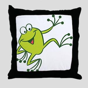 Dancing Frog Throw Pillow