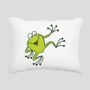 Dancing Frog Rectangular Canvas Pillow