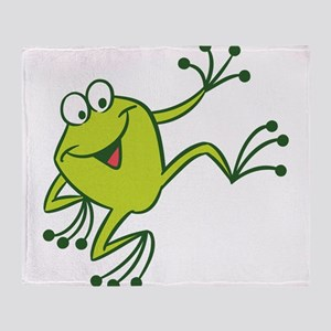 Dancing Frog Throw Blanket