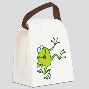 Dancing Frog Canvas Lunch Bag