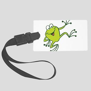 Dancing Frog Luggage Tag