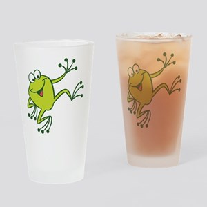 Dancing Frog Drinking Glass