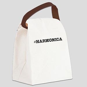 Harmonica Hashtag Canvas Lunch Bag