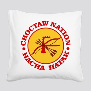 Choctaw Nation Square Canvas Pillow