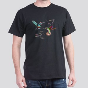 JEWELED HUMMINGBIRDS AND FLOW Dark T-Shirt