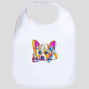 Colorful Corgi Puppy Baby Bib