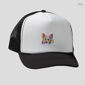 Colorful Corgi Puppy Kids Trucker hat