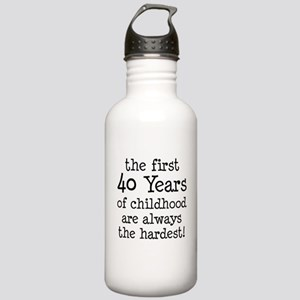 First 40 Years Childhood Water Bottle