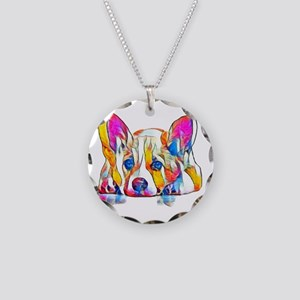 Colorful Corgi Puppy Necklace